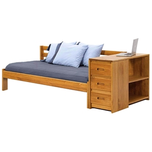 Wooden Storage Daybed - Honey Finish