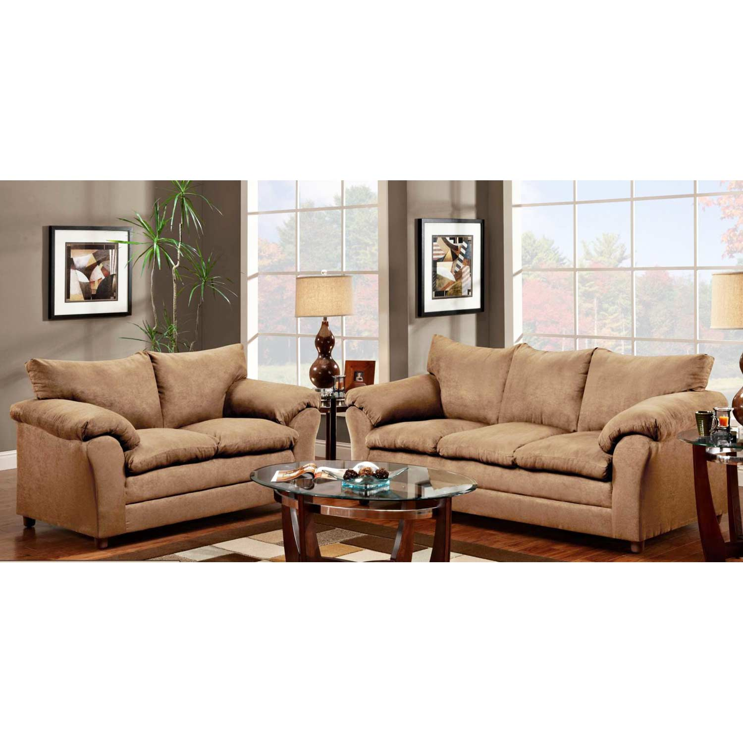 Cozy Home Theater: Gail Pillow Top Arm Sofa - Victory Lane Taupe