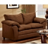 Gail Pillow Top Arm Loveseat - Flat Suede Chocolate - CHF-471150-L-FC