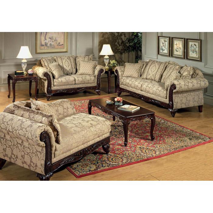 Serta Kelsey Living Room Sofa Set With Ornate Wood