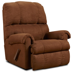 Grace Rocker Recliner Chair - Flat Suede Chocolate