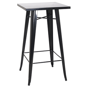 Galvanized Steel Bar Table - Black