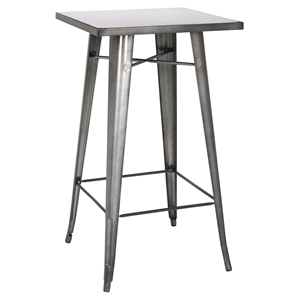 Galvanized Steel Bar Table - Gun Metal
