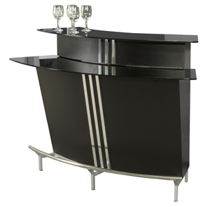 Broadway Bar Table - Black, Silver