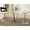 Cortland Pub Table - Round Glass, Chrome - CI-CORTLAND-CNT