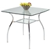 Daisy 5 Pieces Dining Set - Black and Clear - CI-DAISY-5PC