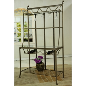 Darcy Bakers Rack - Bronze, 3 Shelves