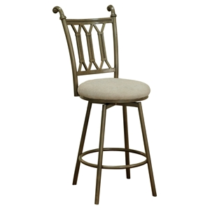 Darcy Counter Stool - Beige Seat, Bronze Frame