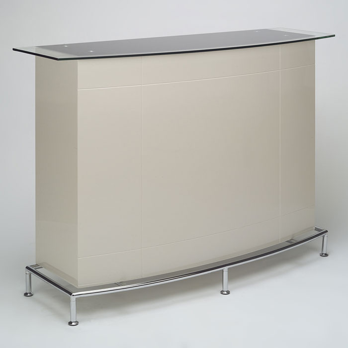 Deborah Contemporary Bar in High Gloss Beige