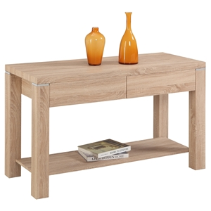 Jane Buffet - 2 Drawers, 1 Shelf, Light Oak