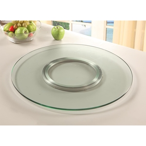 Lazy Susan Round Spinning Tray - Clear, Tempered Glass