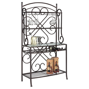 Lily Metal Bakers Rack - Hammered Brown, 3 Shelves