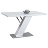 Linden Rectangular Dining Table - Gloss White