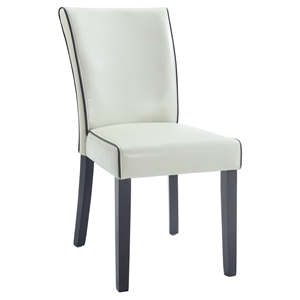Michelle Parsons Chair - Bonded Leather, Cream (Set of 2)