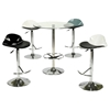 Round Pub Table - Glass Top, Chrome Base - CI-PUBTABLE-30