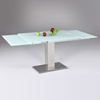 Favorite Tatiana Extending Dining Table - White Frosted Glass | DCG Stores KS84