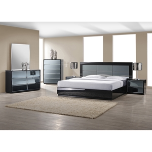 Vinice 4 Pieces Platform Bedroom Set - Black