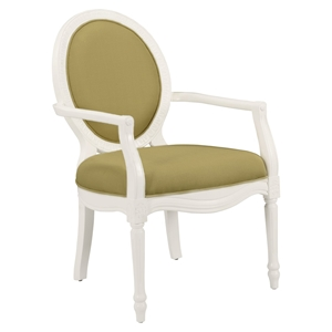 Madison Accent Chair - Cucumber, White