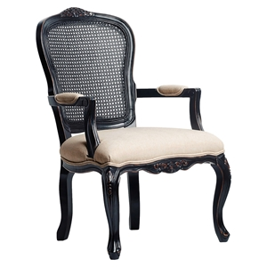 Ayla Carved Chair - Black