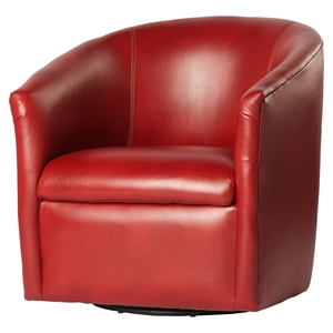 Draper Swivel Chair - Red