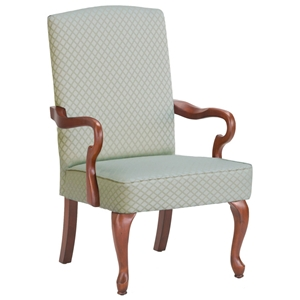 Derby Beige Accent Chair with Gooseneck Arms