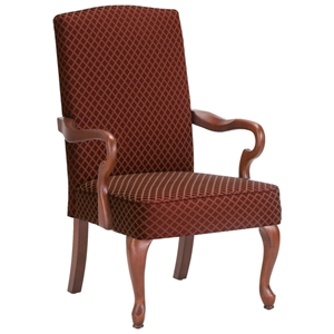 Derby Red High Back Accent Chair