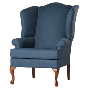 Crawford Wing Back Chair - Sky, Cherry