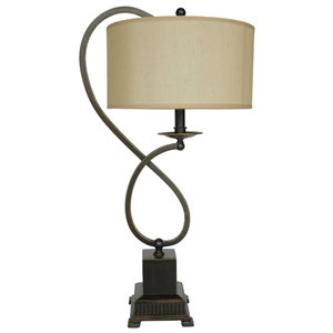 Bronze Metal Loop Table Lamp