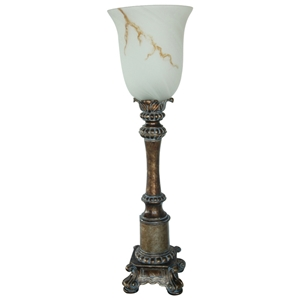 Gold Torchiere Uplight Table Lamp