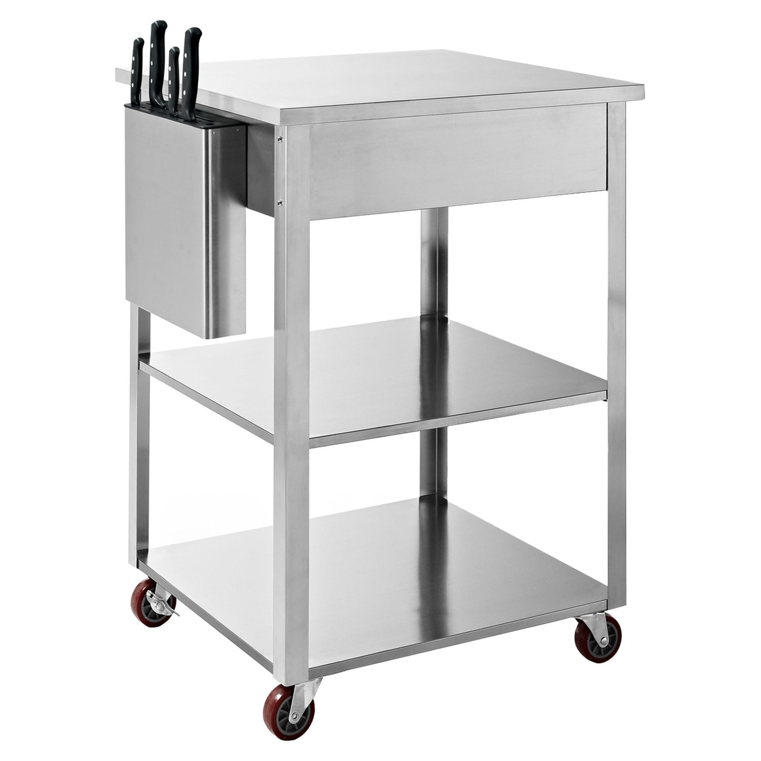 Culinary Prep Kitchen Cart - Stainless Steel