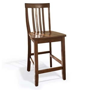 School House Bar Stool with 24 Inch Seat Height - Classic Cherry (Set of 2)