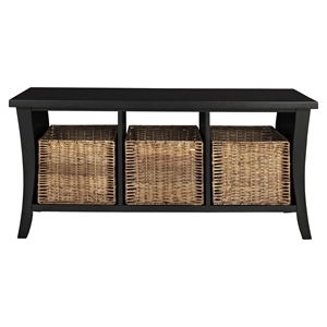 Wallis Entryway Storage Bench - Black
