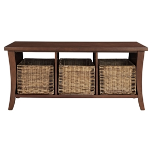 Wallis Entryway Storage Bench - Mahogany