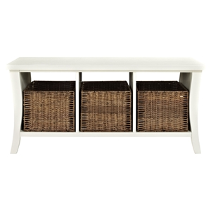 Wallis Entryway Storage Bench - White