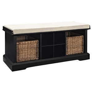 Brennan Entryway Storage Bench - Black