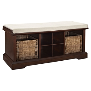 Brennan Entryway Storage Bench - Mahogany