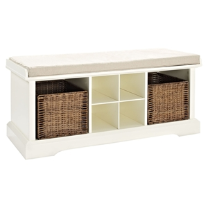 Brennan Entryway Storage Bench - White