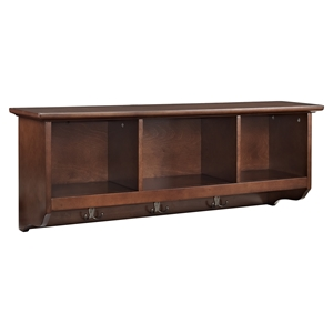 Brennan Entryway Storage Shelf - Mahogany