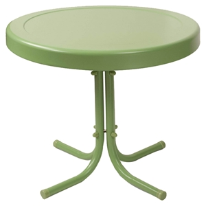 Retro Metal Side Table - Oasis Green