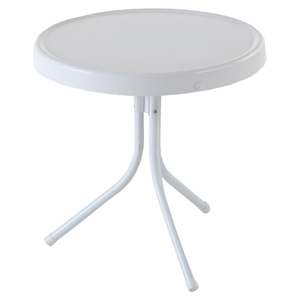 Retro Metal Side Table - Alabaster White