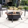 Yuma Copper Ring Firepit - Black - CROS-CO9005A-BK