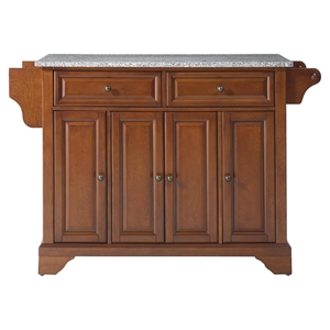 LaFayette Solid Granite Top Kitchen Island - Classic Cherry
