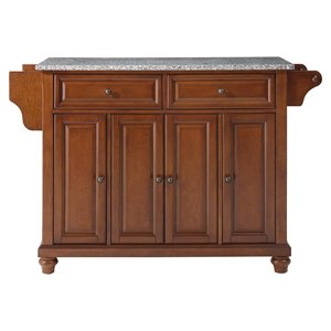 Cambridge Solid Granite Top Kitchen Island - Classic Cherry