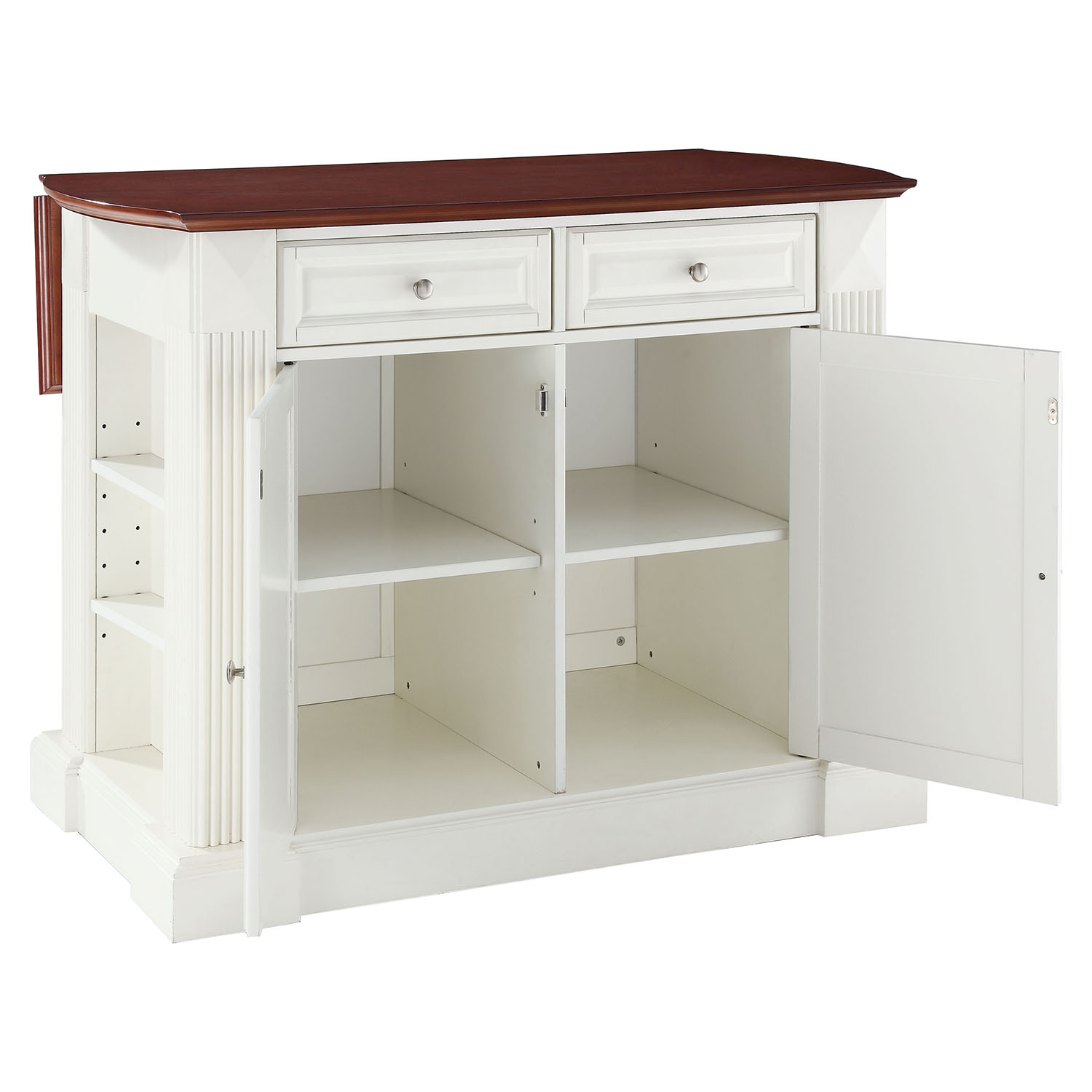 white kitchen island with drop leaf drop leaf breakfast bar top kitchen island white dcg 27638