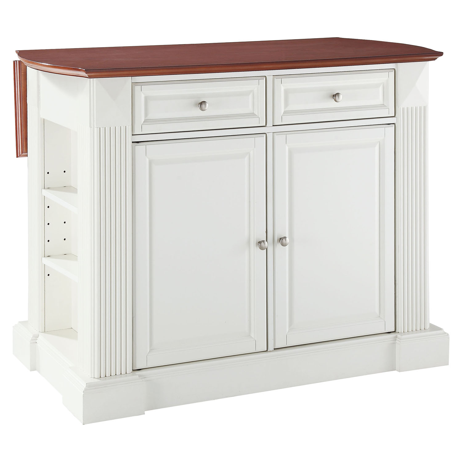 kitchen islands with drop leaf drop leaf breakfast bar top kitchen island white dcg stores 5339
