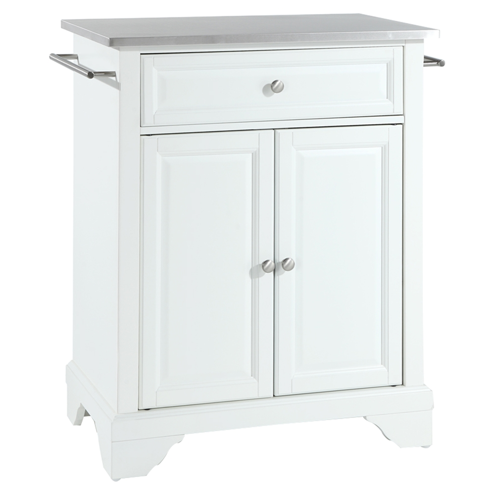 white kitchen island with stainless steel top lafayette kitchen island stainless steel top portable 2219