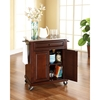Stainless Steel Top Portable Kitchen Cart/Island - Casters, Mahogany - CROS-KF30022EMA
