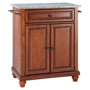 Cambridge Kitchen Island - Granite Top, Portable, Classic Cherry