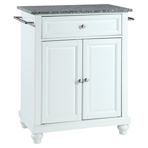 Cambridge Kitchen Island - Granite Top, Portable, White