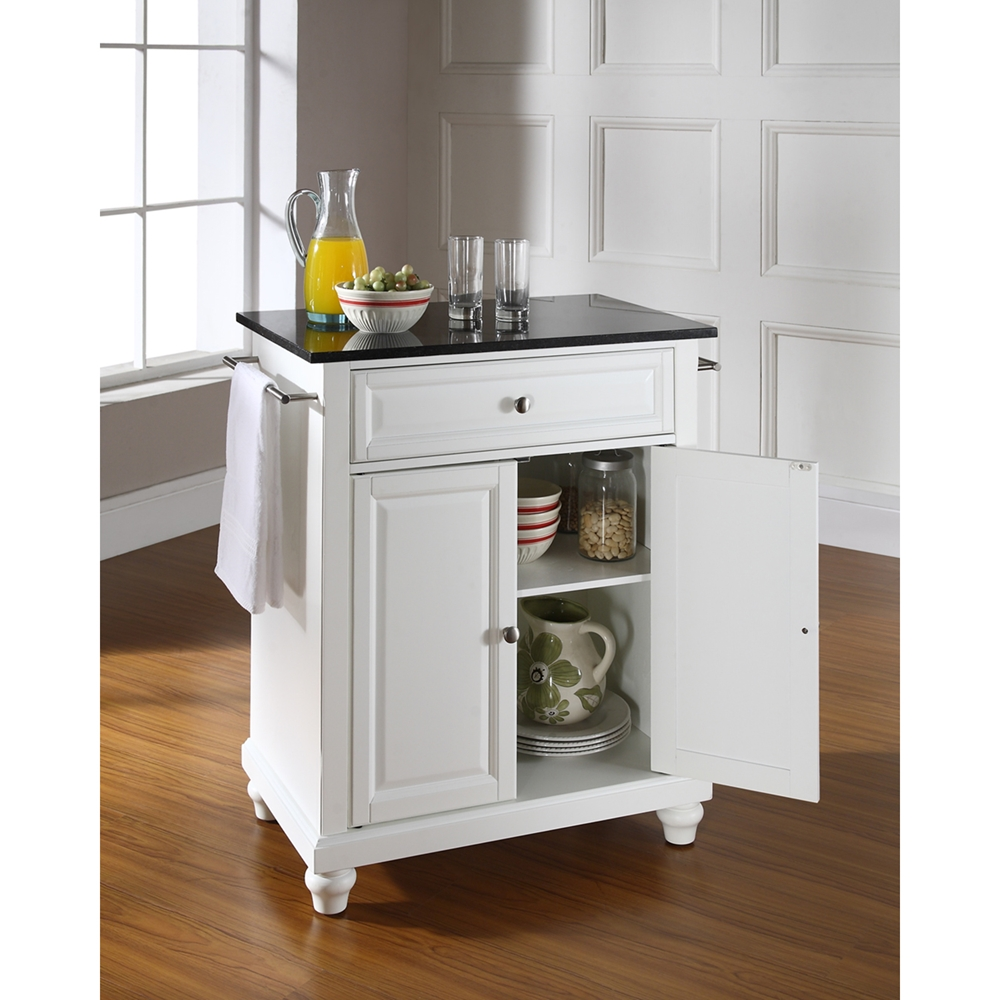 black granite top kitchen island cambridge solid black granite top portable kitchen island 7877